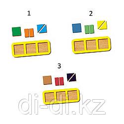 Рамка-вкладыш WOODLAND Сложи квадрат 3 квадрата, уровень 1 (5 элементов)