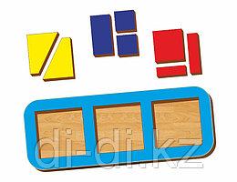 Рамка-вкладыш WOODLAND Сложи квадрат 3 квадрата, уровень 1