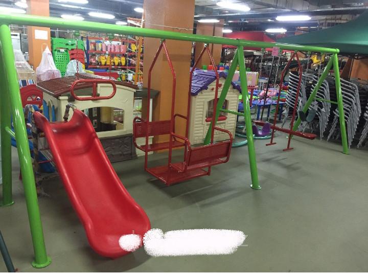 Детский игровой комплекс (качеля и горка)