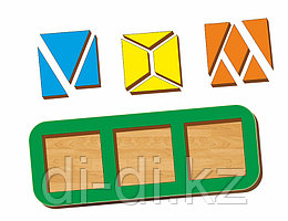 Рамка-вкладыш WOODLAND Сложи квадрат 3 квадрата, уровень 2