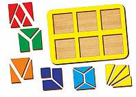 Рамка-вкладыш WOODLAND Сложи квадрат 6 квадратов, уровень 2, фото 1
