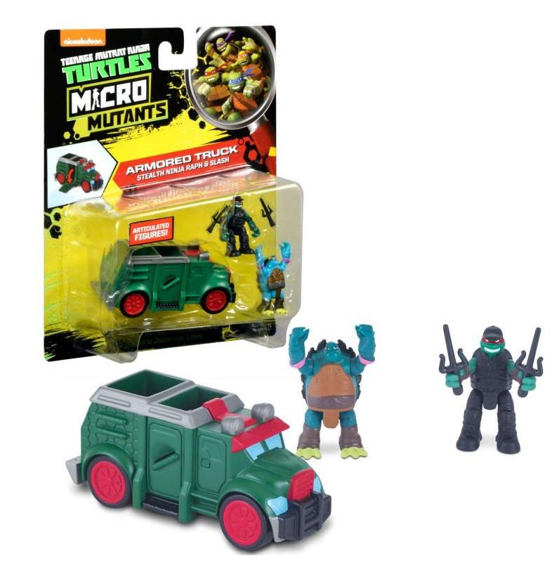 Микро-набор - Бронированный грузовик Черепашек-ниндзя с фигурками Рафа и Слеша