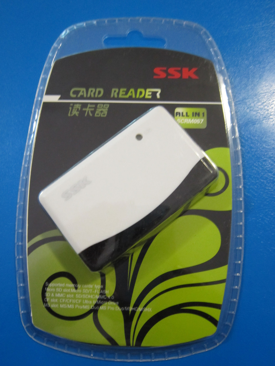 Картридер SSK SCRM057  USB2.0 SD TF / Micro SD CF MS