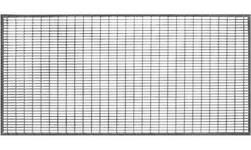 Решетка придверная стальная оцинкованная 490х990мм