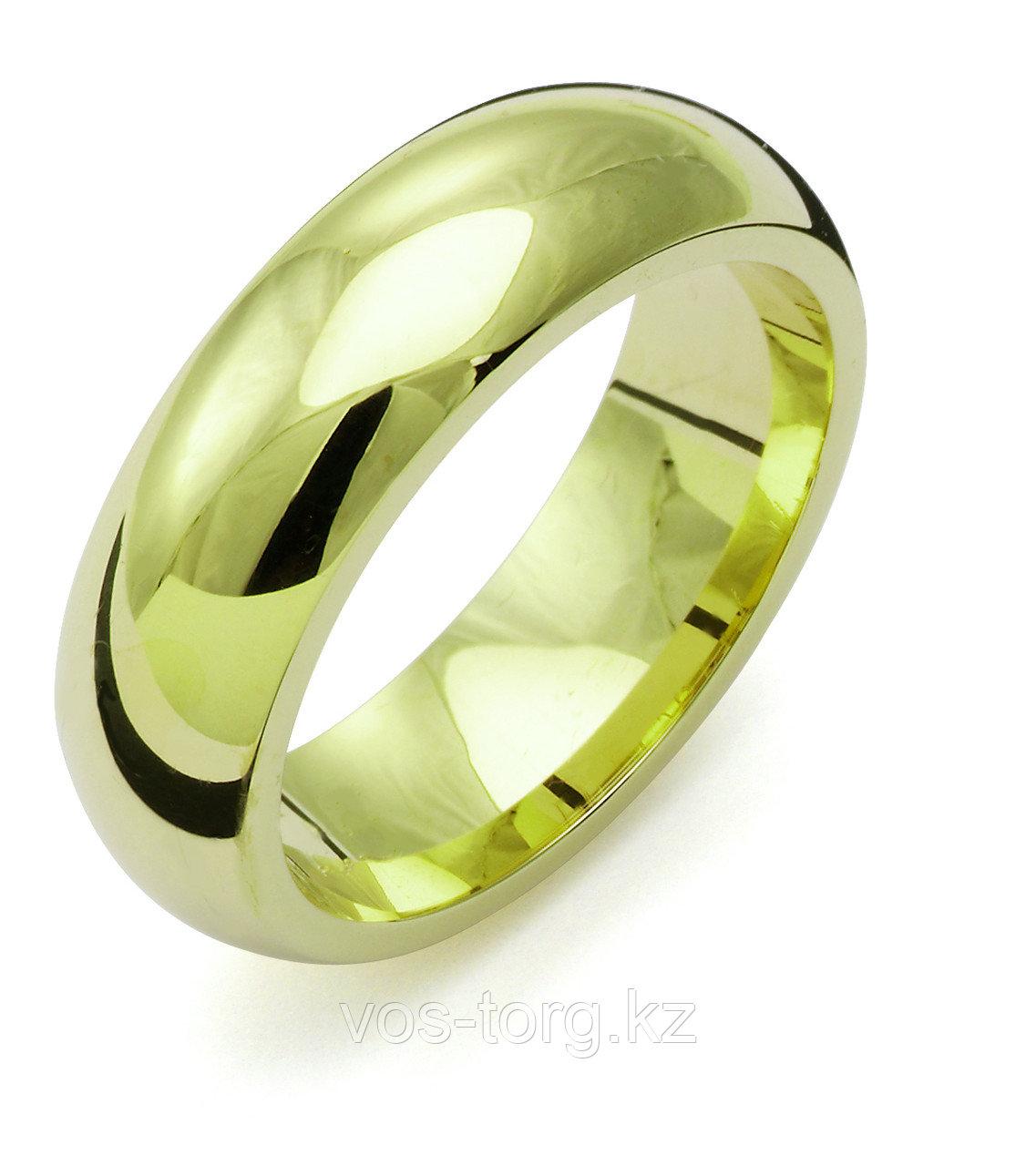 """Кольцо обручальное """"Итальянское золото"""" позолота - фото 1"""