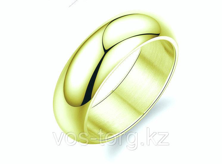 """Кольцо обручальное """"Итальянское золото"""" позолота - фото 4"""