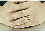 """Кольцо обручальное """"Итальянское золото"""" позолота, фото 5"""