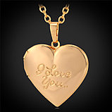 Кулон-медальон на цепочке ''I love you'', фото 6