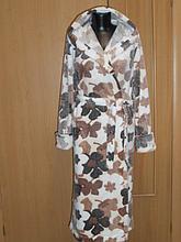 Длинный теплый женский халат с капюшоном. Вельсофт. Россия.