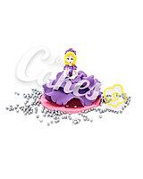 Сахарная фигурка из мастики «Принцесса в фиолетовом платье», Казахстан