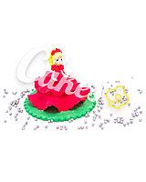Сахарная фигурка из мастики «Принцесса в красном платье», Казахстан