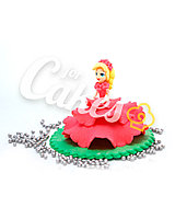 Сахарная фигурка из мастики «Принцесса в розовом платье», Казахстан