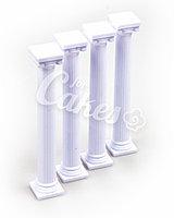 Столбики пластиковые в Греческом стиле для многоярусного торта, большие