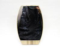 Косметическое зеркало 18 см, вертикальное, бежевая рама