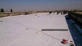 Реконструкция битумной кровли на заводе Гидромаш с использованием современного гидроизоляционного материала ПВХ Мембрана 6