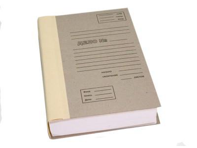 Архивная папка с корешком из коленкора  до 4 см