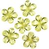 Декоративные бусины Цветы лимонные 2,1см 20шт