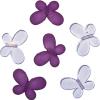 Декоративные бусины Мотылек фиолетовые ассорти 3х2,2см 10шт