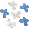 Декоративные бусины Мотылек синие ассорти 3х2,2см 10шт