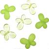 Декоративные бусины Мотылек салатовые ассорти 3х2,2см 10шт