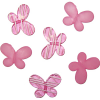 Декоративные бусины Мотылек розовые ассорти 3х2,2см 10шт