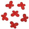 Декоративные бусины Мотылек красные 3х2,2см 10шт
