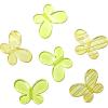Декоративные бусины Мотылек желтые ассорти 3х2,2см 10шт