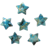 Декоративные бусины Звезды бирюзовые 2.3х1.8см 20шт