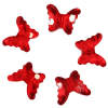 Декоративные бусины Бабочки красные 2,3x1,8см 20шт