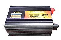Преобразователь напряжения с функцией заряда аккумулятора, UPS и LED дисплеем, 12 220, 2kVA, фото 1