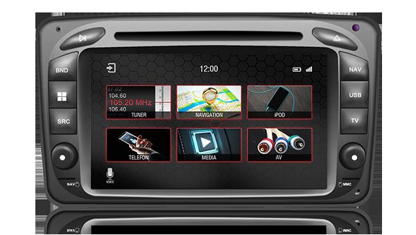 Штатное головное устройство Mercedes-benz C-класс (W203), CLK (W209), G (W463), Vito / Viano «Dynavin»