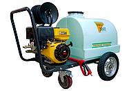 Бензиновая мойка высокого давления на колесах, давление 206 бар, бак 300 литров, Lutian 3WZ-300Т