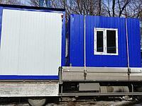 Пост охраны и контейнер, предназначенный для размещения оборудования связи