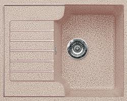 Кухонная мойка из искусственного камня  Gran-Stone GS-13S   (612х497 мм) песочный