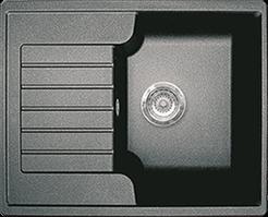 Кухонная мойка из искусственного камня  Gran-Stone GS-13S   (612х497 мм) черный
