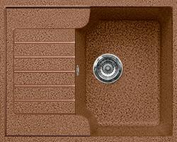 Кухонная мойка из искусственного камня  Gran-Stone GS-13S   (612х497 мм) терракот