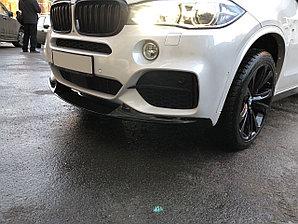 Сплиттер переднего бампера BMW X5 2014-. Аналог M-Performance