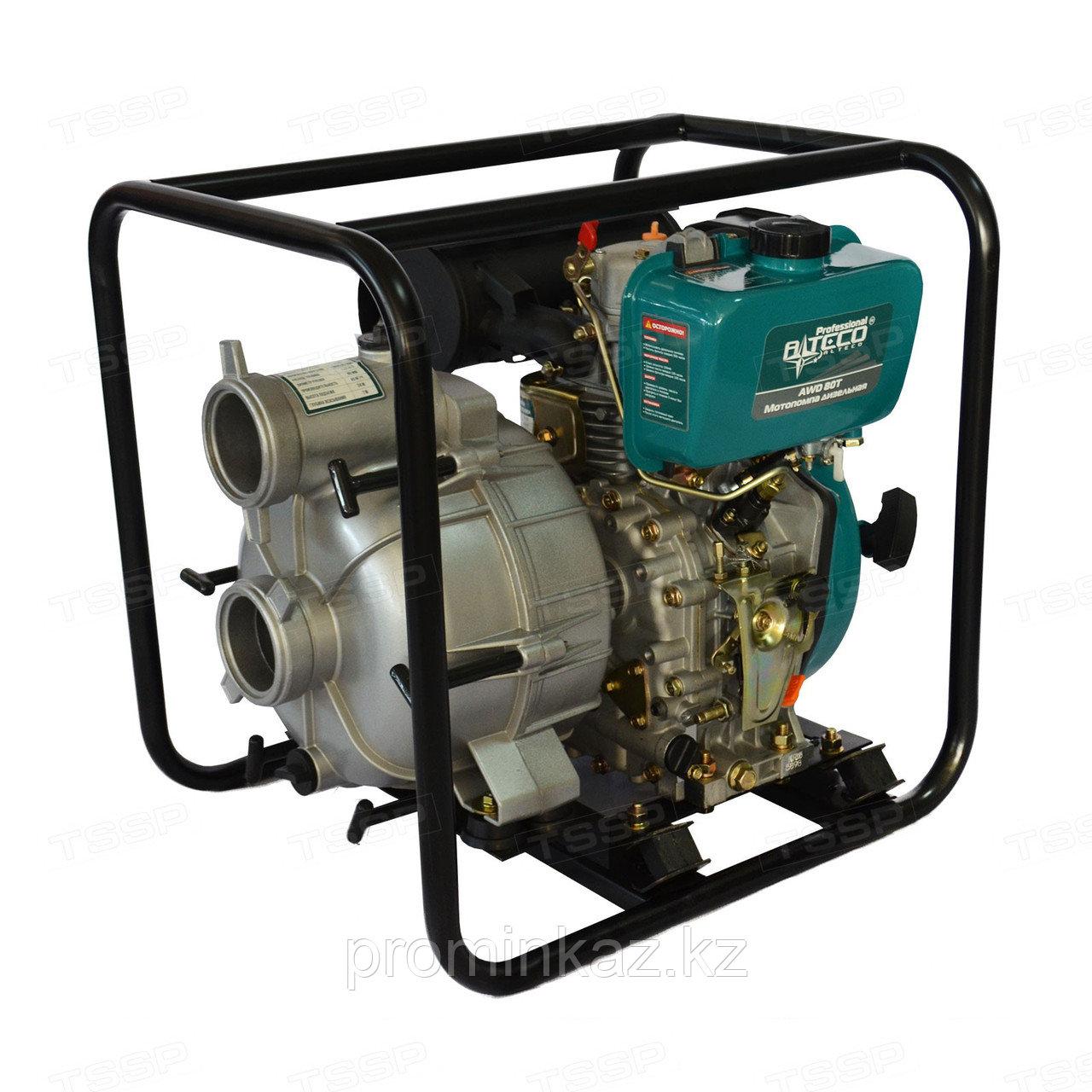 Мотопомпа дизельная ALTECO AWD100T, для грязной воды