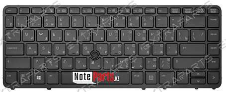 Клавиатура для ноутбука HP EliteBook 840 G1 (RU) черная с подсветкой, фото 2