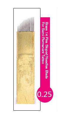 Иглы-лезвие (14) PSD для нанесение микроблейдинга, перманентного макияжа (татуажа) бровей