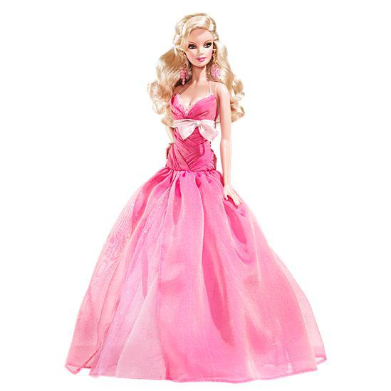 Barbie Коллекционная кукла Барби в розовом платье - Праздничная 2008