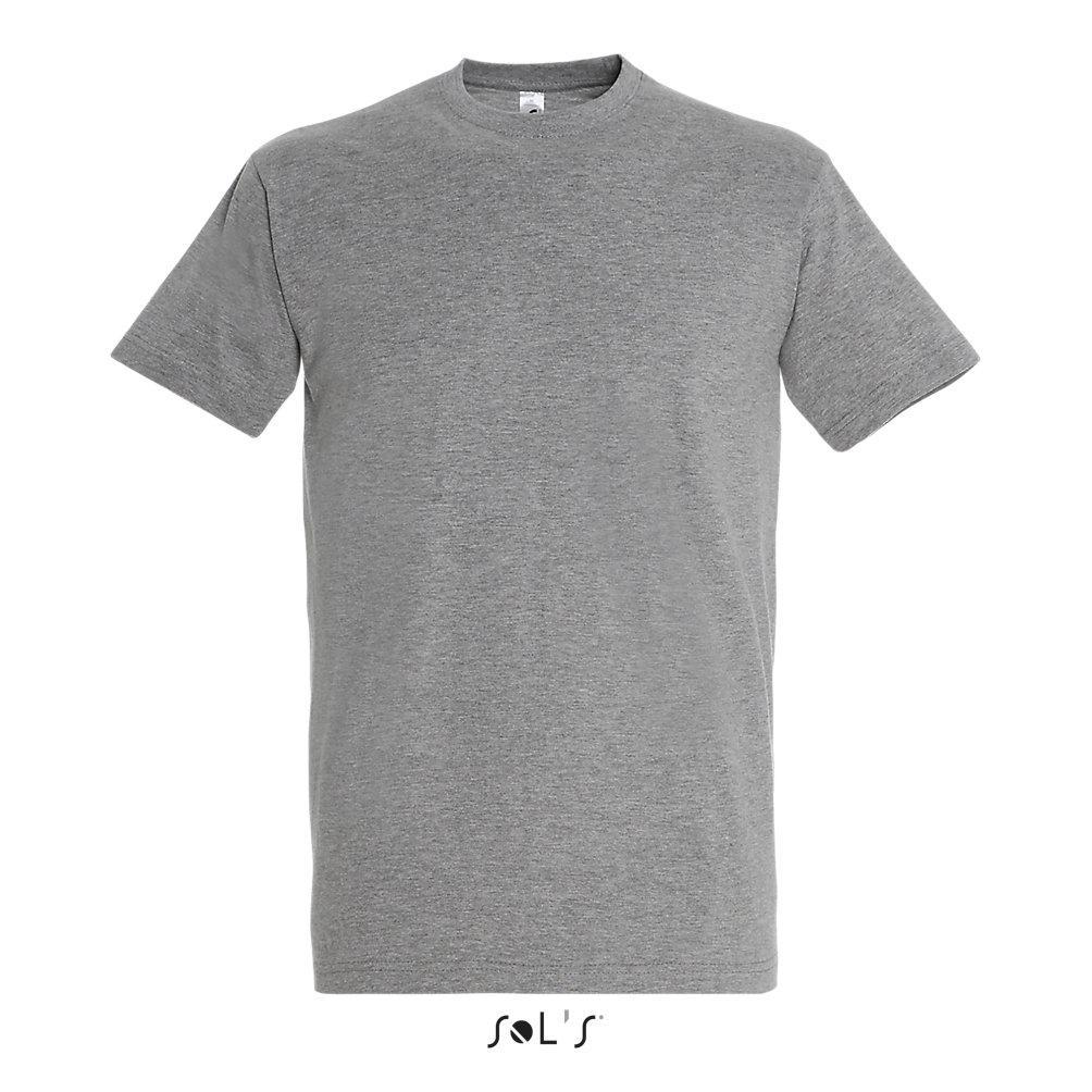 Футболка Sols Imperial XL, серый-меланж