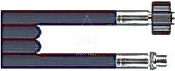 80m (600 бар,DN-06 износостойкий) Шланг сверхвысокого давления для прочистки труб