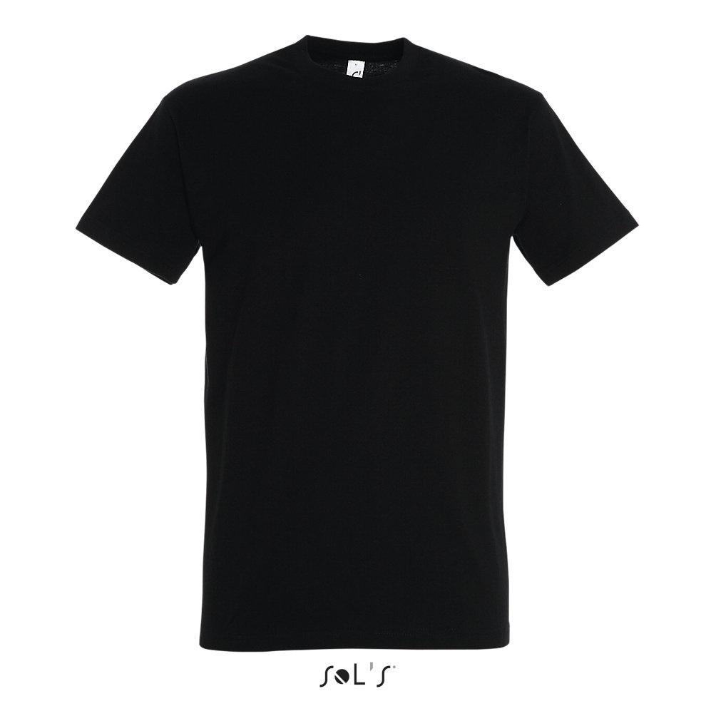 Футболка Sols Imperial XL, черная