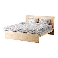 Кровать каркас МАЛЬМ дубовый шпон белёный 160х200 Лурой ИКЕА, IKEA , фото 1