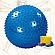 Фитбол, мяч для фитнеса массажный с насосом (d85см), фото 3