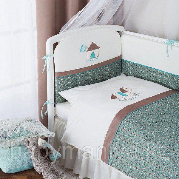 """Комплект в кроватку """"Жила-была Лошадка"""" 3 предмета"""