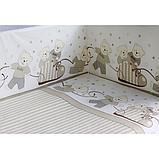 Комплект в кроватку PITUSO МИШКИ 6 предметов Бежевый, фото 3