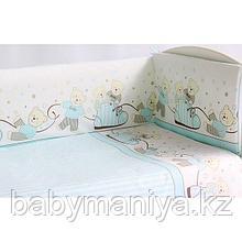 Комплект в кроватку PITUSO МИШКИ 6 предметов Голубой