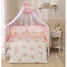 Комплект в кровать 7 предметов ТИФФАНИ НЕЖЕНКА Молочный/розовый PERINA